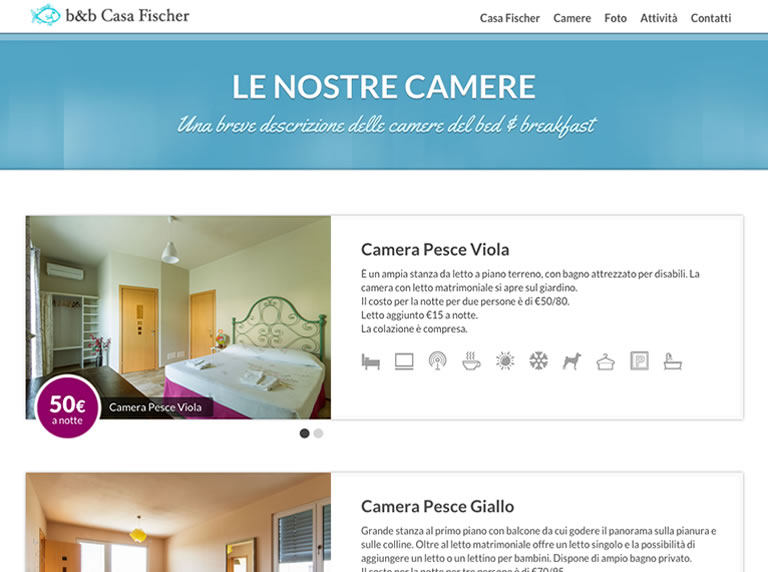 b&b Casa Fischer website