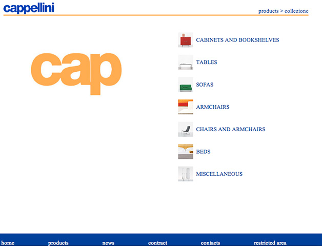 Cappellini website (2004)