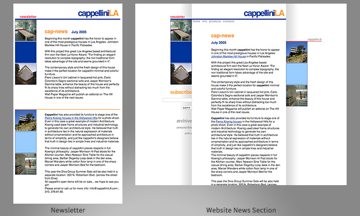 cappelliniLA - multi-channel design examples