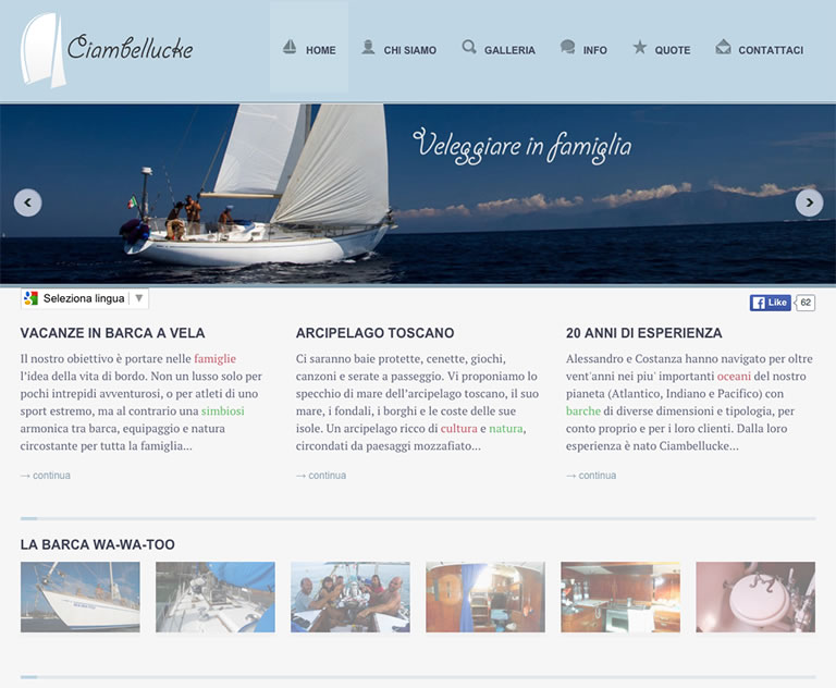 Ciambellucke website