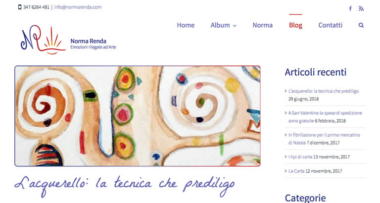 Norma Renda website
